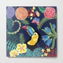 Natures Confetti Toucan Metal Print
