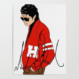 MJ too Cool Poster