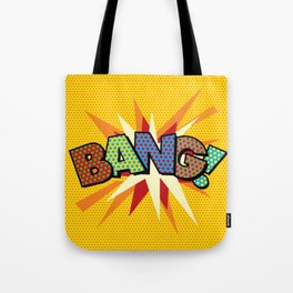 Comic Book Pop Art Sans BANG! Tote Bag