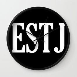 ESTJ Personality Type Wall Clock