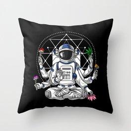 Psychedelic Astronaut Psychonaut  Throw Pillow