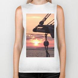Sunset Sail Biker Tank