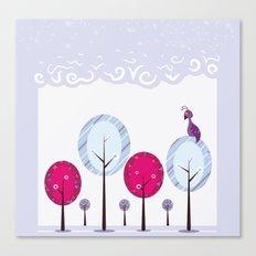 Pastel Dream Trees Canvas Print