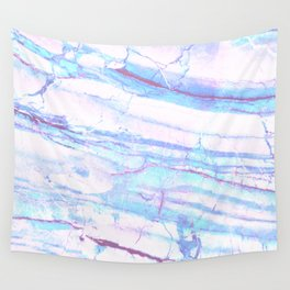 Pastel Marble with Blue Green Purple Wall Tapestry