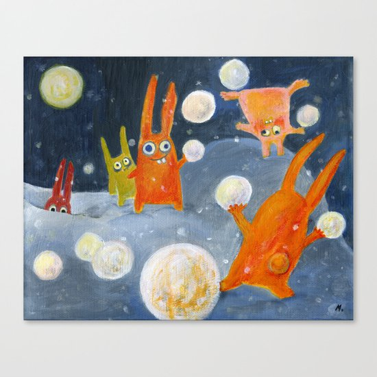 snowballs Canvas Print