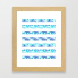 Blue & Purple Watercolor Stripes Framed Art Print