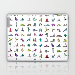 Rainbow Yoga Poses Laptop & iPad Skin