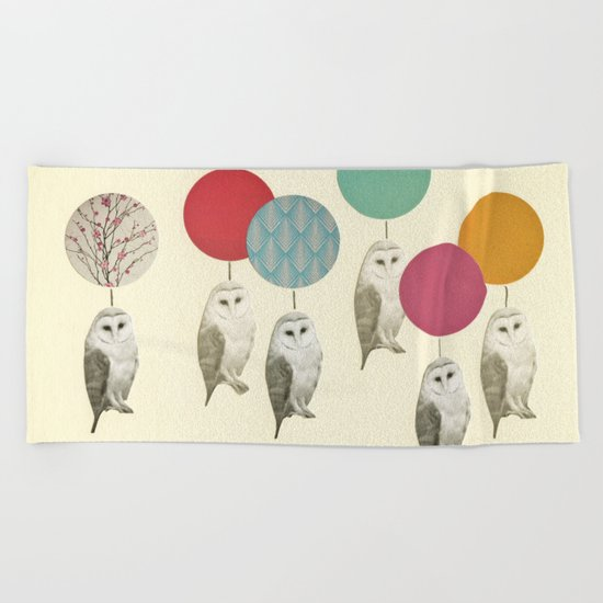 Balloon Landing Beach Towel
