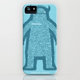 Anatomy of a Monster iPhone Case
