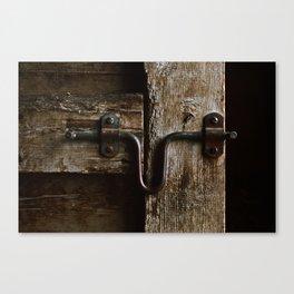 The Box Stall Door Canvas Print