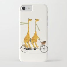 lets tandem giraffes iPhone 7 Slim Case