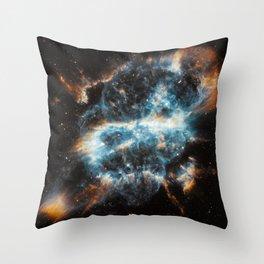 Spiral Nebula Space Throw Pillow