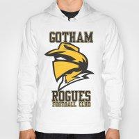 gotham Hoodies featuring Gotham Rogues by Alex Dutton