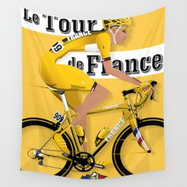 Tour De France cycling grand tour Wall Tapestry