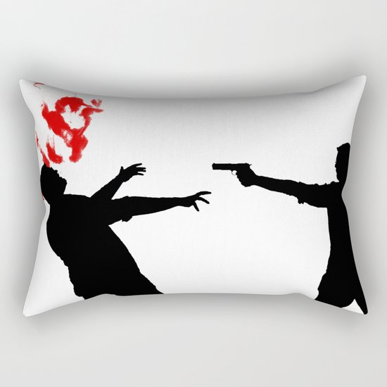 One Shot Rectangular Pillow