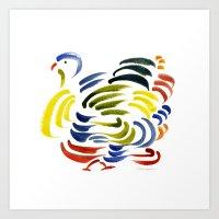 turkey Art Prints featuring Turkey by John Kneapler