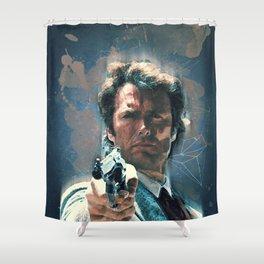 Dirty Harry vintage art Shower Curtain