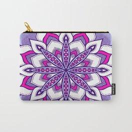Fuchsia Lavender Flower Mandala Carry-All Pouch