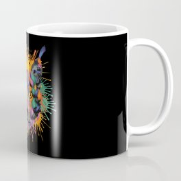 Lynx Face Color Splashes Coffee Mug