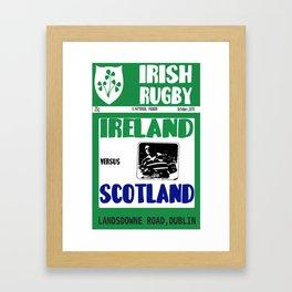 Irish Rugby 1970 Magazine Framed Art Print