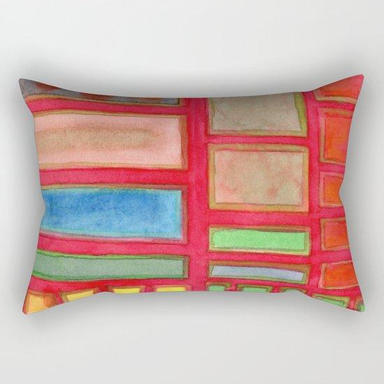 Some Chosen Rectangles orderly on Red Rectangular Pillow