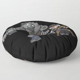 ashe and bob Floor Pillow