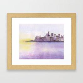 City sunset. Framed Art Print