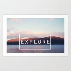 Explore. New Zealand Art Print