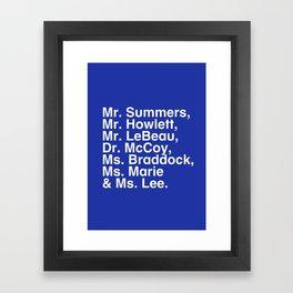 Tribute 4 - X-Men (Blue team) Framed Art Print