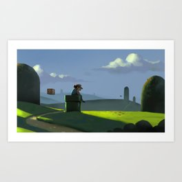 The Contemplative Plumber Art Print