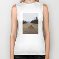 canada Biker Tanks featuring Road Fox by Kevin Russ