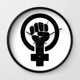 Feminist Raised Fist Wall Clock