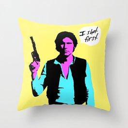 Han Solo: I Shot First Throw Pillow