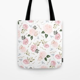 Floral Blossom - Muted Pink Tote Bag