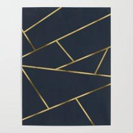 Copper and Midnight Navy #society6 #decor #buyart #artprint Poster