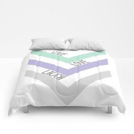LIVE LOVE LAUGH Comforters