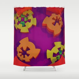 Mad Here Shower Curtain