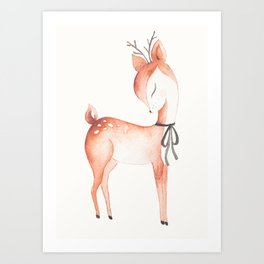whimsical fawn 2 Art Print