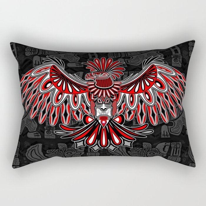 89d4cb630 Eagle Tattoo Style Haida Art Rectangular Pillow by bluedarkatlem | Society6