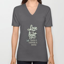 Love is Light Unisex V-Neck