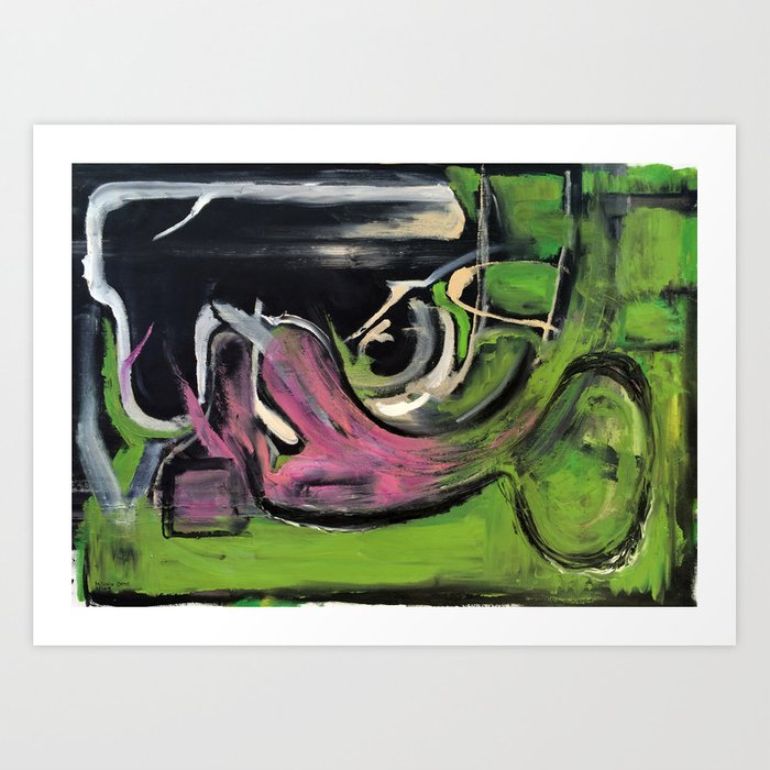 Envy (oil on canvas) Art Print