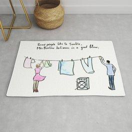 Comic Laundry Rude Joke Good Blow Rug