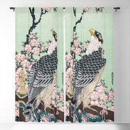 12,000pixel-500dpi - Katsushika Hokusai - Cherry blossoms and Eagle - Digital Remastered Edition Blackout Curtain