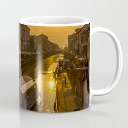 Sunset on the Naviglio Grande in the center of Milan Coffee Mug