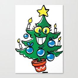 Happy Christmas tree Canvas Print