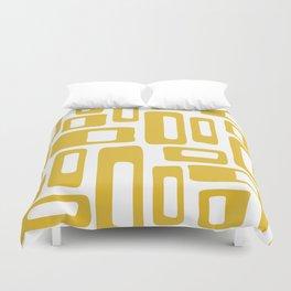 Retro Mid Century Modern Abstract Pattern 336 Mustard Yellow Duvet Cover