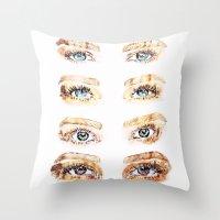 golden girls Throw Pillows featuring The Golden Girls by Sara Eshak