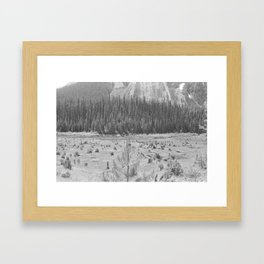 Cutting Through Trees Framed Art Print