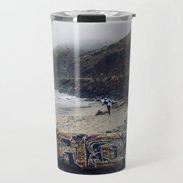 Rainy Beach Travel Mug