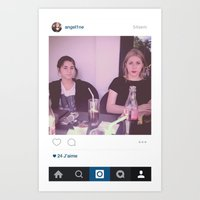 instagram Art Prints featuring Instagram by ANGEL1NE